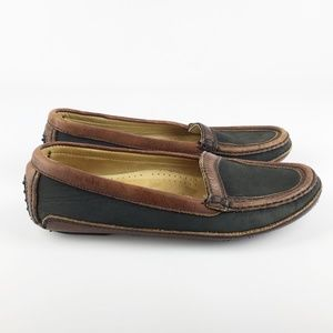 Cole Haan Country Leather Driver Black Brown 8